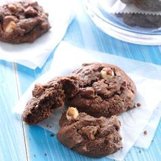 Sour Cream Chocolate Cookies Recipe -These soft chocolaty cookies can be easily altered to make several different varieties—I've added everything from mints to macadamia nuts to them. —Tina Sawchuk, Ardmore, Alberta