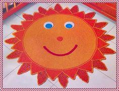 Tapete de Crochê em Formato de Sol