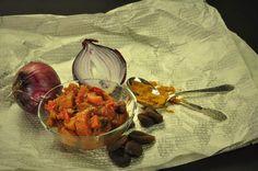Spicy #rhubarb #chutney with #curry