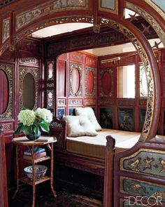 A Qing dynasty wedding bed...i would feel like concubine. pretty though!