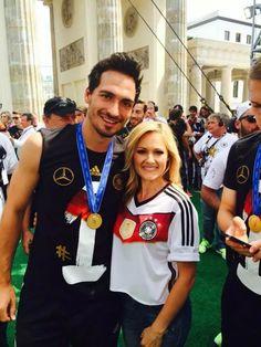 Mats Hummels with Andrea Berg ( german singer)