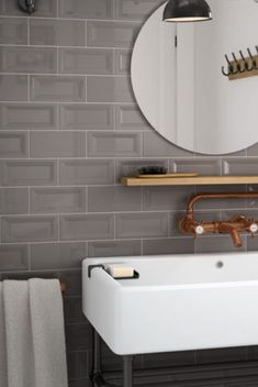 Modern trends in accent wall design 02 ~ Popular Living Room Design Latest Bathroom Tiles, Bathroom Tile Designs, Bathroom Trends, Bathroom Interior Design, Bathroom Renovations, Bathroom Ideas, Tiny House Bathroom, Small Bathroom, Bathroom Plants