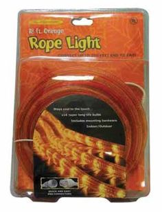 Celebrations Halloween IndoorOutdoor Rope Lights 18 Orange ** Continue to the product at the image link.