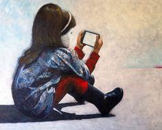"""""""El futuro están en sus manos"""" oleo sobre lienzo 81x65 cms -on sale: 750€-"""