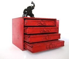 I need this! Red Storage Cabinet