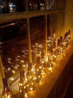 Glass Bottle Lights