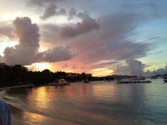 Sunset on Cruz Bay, St John U.S. Virgin Islands