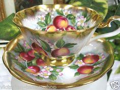 Royal Albert Teacup Avon Painted Cherries Tea Cup and Saucer