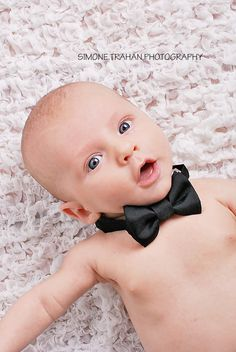 2 month old Boy Photography Would be sooo cute! need a baby bowtie :-)