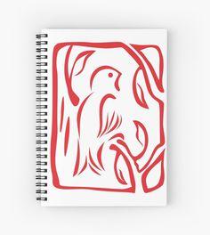 Little Bird Notebook #birds #animals #red #nature #tree