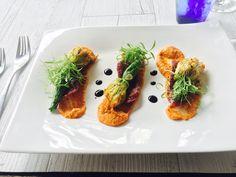Crab Claw Zucchini Flowers Zucchini Flowers, Kids Menu, Bar Grill, Prawn, Seafood, Steak, Grilling, Restaurant, Dining