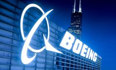 Boeing Logo on the world headquarters building in Chicago, IL.
