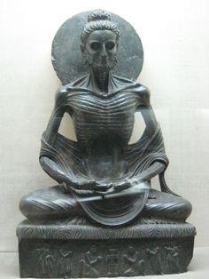Buda en ayuno, s. III - V d.C. Taxila (Pakistán), antigua región de Gandhara