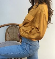 mustard outfit | mustard shirt | fall fashion | fall style | cute outfit | #ootd