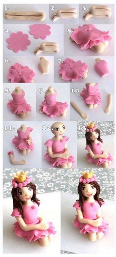 How take a girl Fondant Cake Toppers, Fondant Icing, Fondant Cakes, Cupcake Cakes, 3d Cakes, Cupcake Toppers, Fondant Figures Tutorial, Cake Topper Tutorial, Cake Decorating Techniques