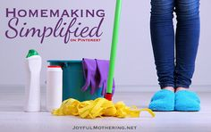 Follow my Homemaking Simplified board for some of the best tips and ideas on simplifying your homemaking tasks.