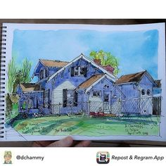 Repost from @dchammy #usk #uskseattle #urbansketch #sketch #watercolor #bellingham