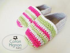 zapato alpargata crochet bebé coton mignon