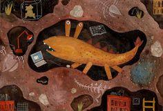 小古-1 by 徐至宏 | Flickr - Photo Sharing! Children's Book Illustration, Character Illustration, Charts And Graphs, Weird And Wonderful, Tribal Art, Crocs, Childrens Books, Monsters, Folk Art