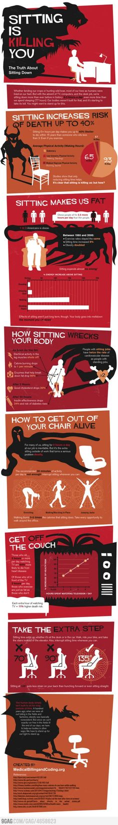 sitting is killing us. this is not a joke. get moving!