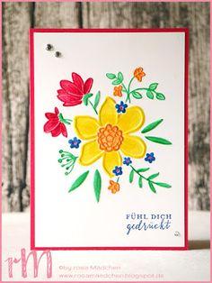 Stampin' Up! rosa Mädchen Kulmbach: Stamp Impressions Blog Hop: Flowers and daisies - Springtime crazy: Karten mit den neuen In Color, Wunderblume und  Liebevolle Details