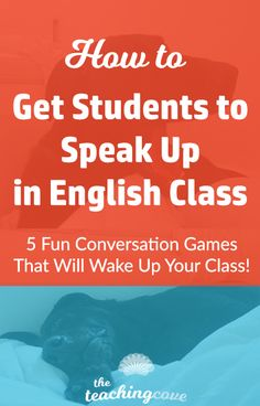 Want to get your students to speak up in English class? Do you teach ESL and have a hard time getting students to speak? These 5 fun ways to teach speaking will add energy and excitement to your class. Check them out by clicking the pin. You can also sign upf or free printables at www.teachingcove.com!