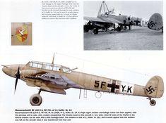 Messerschmitt Bf 110E-3 5F+YK WNr.2408 Reconnaissance aircraft of 2./Aufkl. G.r.14 ex G.r.123 .