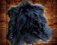 NEW Faux Fur Rug / Fine Shaggy Off White by PremiumFauxFurRugs