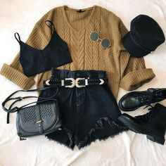 Cute Casual Outfits, Girly Outfits, Mode Outfits, Retro Outfits, Grunge Outfits, Stylish Outfits, Teen Fashion Outfits, Outfits For Teens, Look Girl