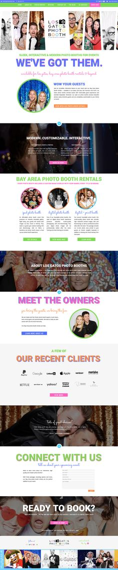 Photo booth Showit website design by Rachael Earl Design. Creative Business, Photo Booth, Logo Design, Branding, Website, Books, Photo Booths, Brand Management, Libros