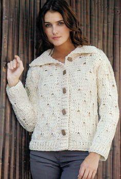 Crochê e CIA: Blusas de Lã... Em Tricô e Crochê... Lindos Modelitos.