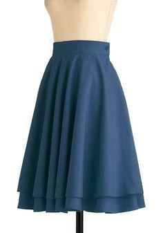 Essential Elegance Skirt in Blue, #ModCloth