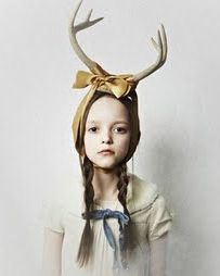 Girl with the antlers, source unknown (still searching for its original creator) . . .