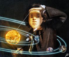 #famous #painting #portrait #reynolds #solar #system #planet #yoyo #art #artwork #photomanipulation  The owner of the solar system.  Self-Portrait Shading the Eyes, painting by Joshua Reynolds.