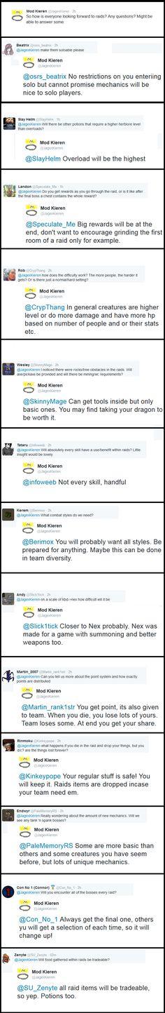 Mod Kieren answers some Raid questions