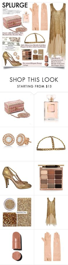 """""""You're worth the whole damn bunch put together"""" by liquidvisions ❤ liked on Polyvore featuring Chanel, Allurez, Pedro García, Gatsby, Stila, Material Girl, THEATRE PRODUCTS and vintage"""