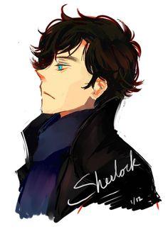 Gorgeous Sherlock fanart <<< oh my gosh I wish I could sketch like this...