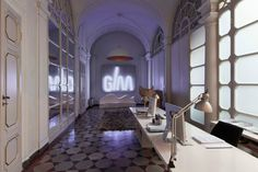 The reception area of the Studio, giving access to the meeting room and the rooms set up for designing #interdema #designstudio #moderndesign #GiraldiAssociati #StudioGAA #современныйдизайн