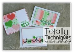 Totally Technique class for  July 2015 featuring Sparkle Watercolor tech