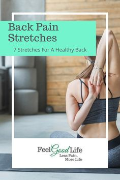 To keep your back moving in all the directions it needs to, you need to stretch it out regularly. Here are 7 easy-peasy chair stretches you can do at home on your own! Back Stretches For Pain, Lower Back Exercises, Knee Pain Relief, Sciatic Pain, Good Health Tips, Low Back Pain, Anti Aging Tips, Stay Young, Easy Peasy
