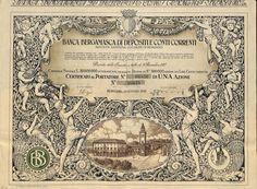 BANCA BERGAMASCA DI DEPOSITI E CONTI CORRENTI - #scripomarket #scriposigns #scripofilia #scripophily #finanza #finance #collezionismo #collectibles #arte #art #scripoart #scripoarte #borsa #stock #azioni #bonds #obbligazioni
