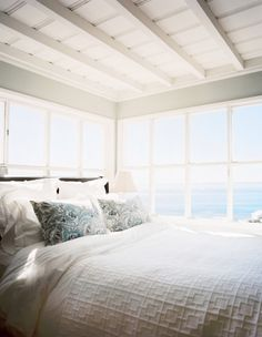 Cottage bedroom, white.... vacation room... sigh