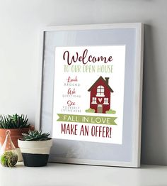- - - - - - - - - - - - - - - - INSTANT DOWNLOAD - - - - - - - - - - - - - - - - - Stand out above the rest in the competitive housing market! Create a warm welcome for all of your open house showings with this one of a kind sign. Size: You will receive both 8.5x11 and 11x14 PDF files