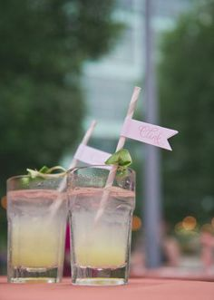 Adorably styled cocktails! Photo by Nbarrett Photography. #wedding #cocktail #cheers