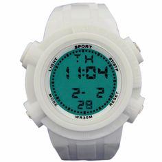 >> Click to Buy << DW357B White Watchcase Chronograph BackLight White Bezel Men Women Digital Watch #Affiliate