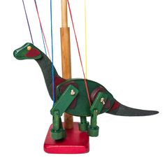 Brontosaurus Wooden Marionette - Made in USA