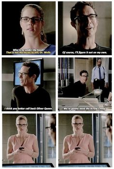 Flash and Arrow. I just realized that Dr. Wells/The Reverse Flash knew who the arrow was because he is from the future. Dc Tv Shows, The Cw Shows, Arrow Cw, Team Arrow, Supergirl Dc, Supergirl And Flash, The Flash, Felicity Smoak, Arrow Felicity