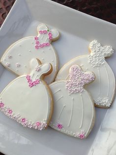 Decorated Cookie  Wedding Dress cookie Favor by TheArtfulBaker, $45.00