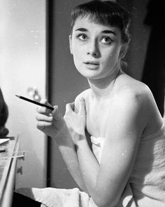 Audrey Hepburn photographed by George Douglas in New York while starring Gigi on Broadway, 1952