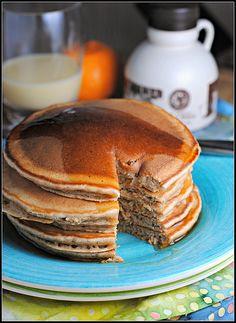 Whole Wheat Eggnog Pancakes